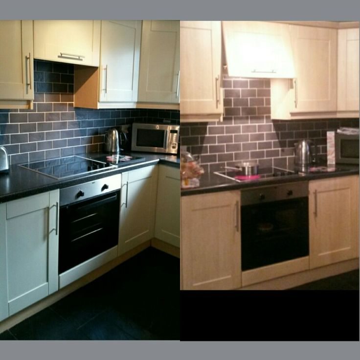Jmc coatings re spraying of kitchens a before and after pic