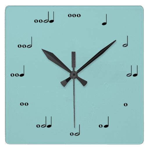 The Original Music Note Clock. My brother would love this.