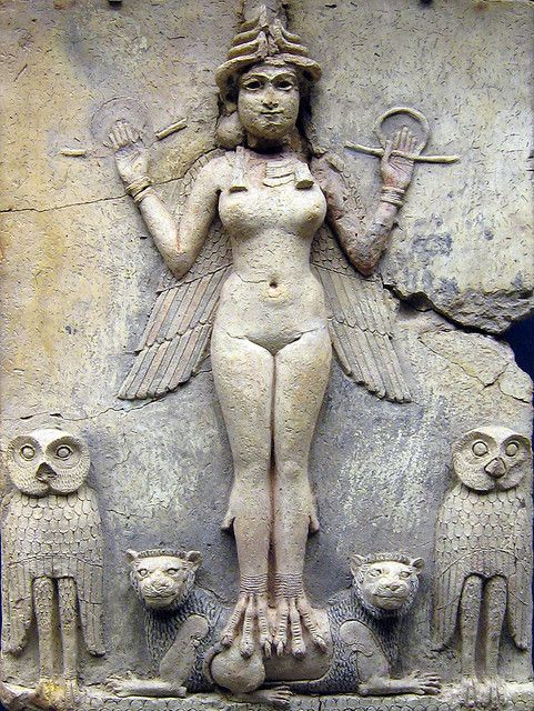 Mesopotamia, Goddess Ishtar or Ereshkigal 'Queen of the Night' (18th Century B.C.). Goddess Ishtar, the roots of later Christian celebrated 'Easter,' Christianity having Pagan roots.