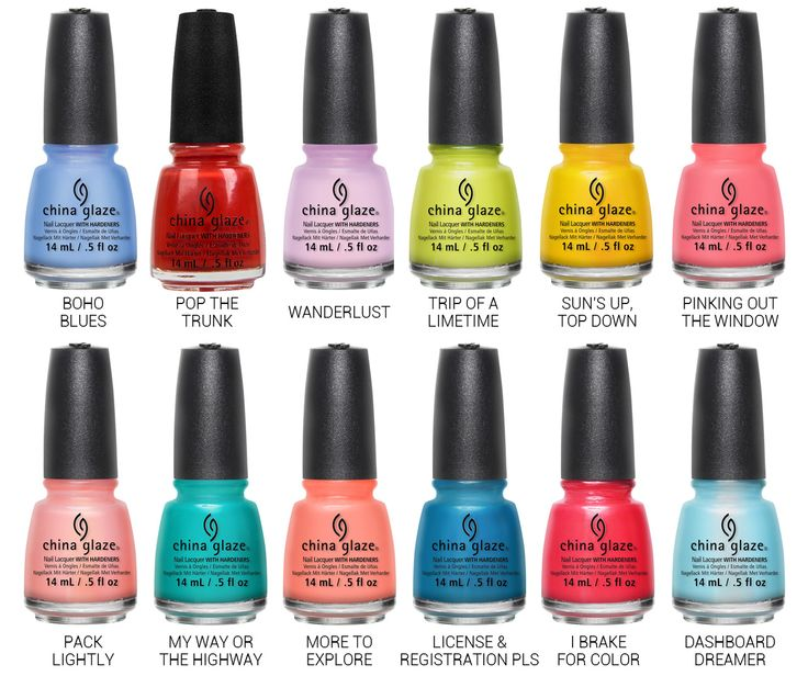 Chalkboard Nails News: China Glaze Road Trip Collection for Spring 2015