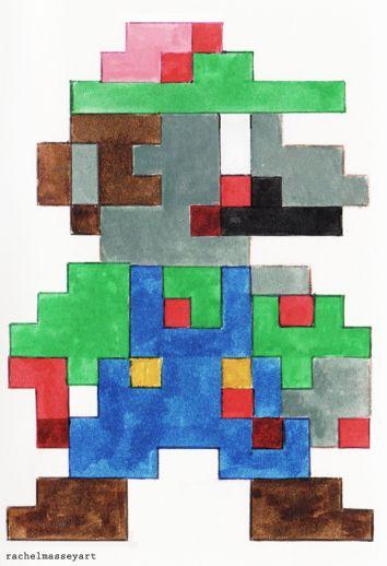 Inktober #21 | 8-bit Zombie