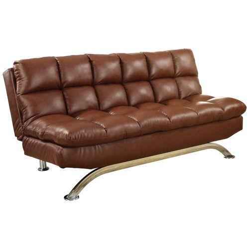 Furniture Of America Aristo Saddle Adjustable Futon Sofa With
