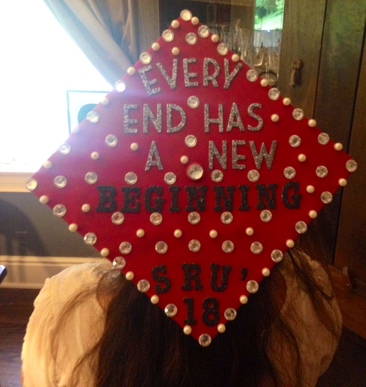 Graduation cap ideas with rhinestones and pearls