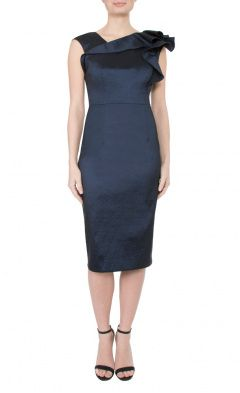 Dark Navy Taffeta Dress