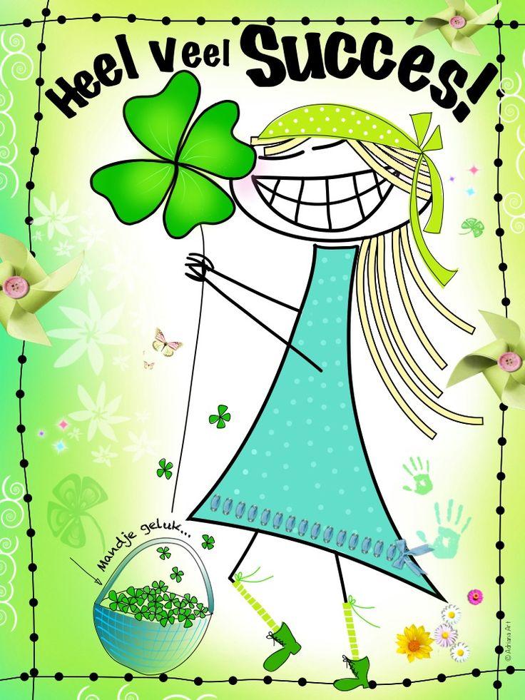Heel veel succes - by Adriana Art  - www.kaartje2go.nl