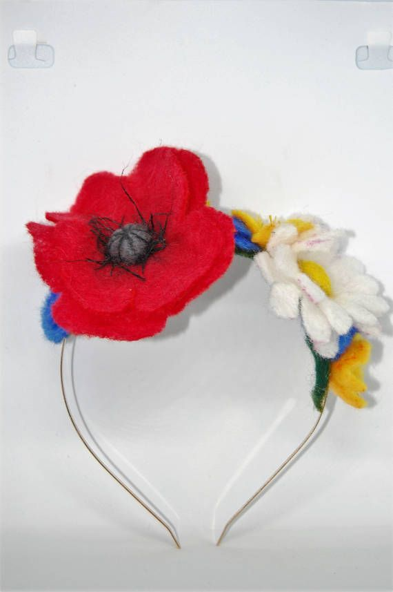 Check out this item in my Etsy shop https://www.etsy.com/uk/listing/530429791/felted-flower-meadow-alice-band-head