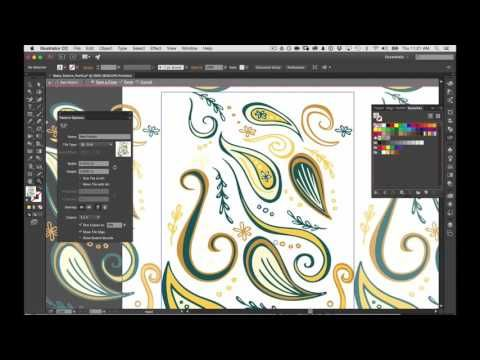 Part 2 -  How to make a repeat pattern from a sketch in Adobe Capture CC and Adobe Illustrator - YouTube