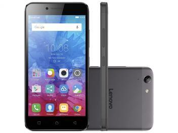 """Smartphone Lenovo Vibe K5 16GB Preto e Grafite - Dual Chip 4G Câm. 13MP + Selfie 5MP Tela 5"""""""