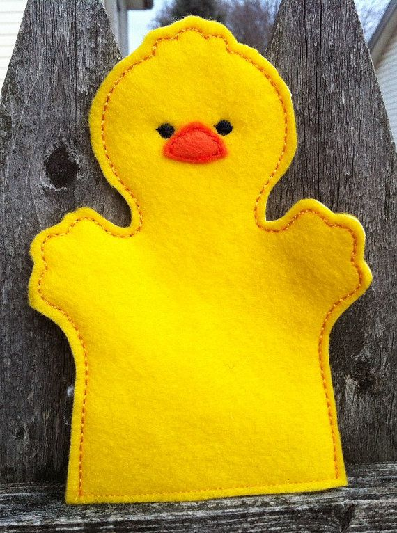 Chick Farm Animal Felt Hand Puppet Kid Size By