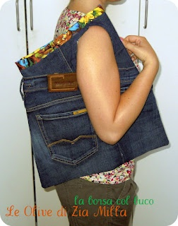 I created this hole bag from an old jeans