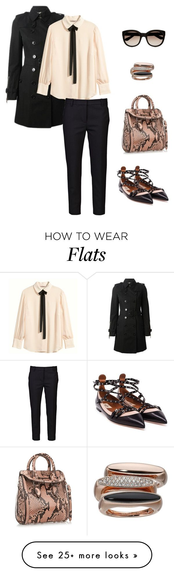 """So Stylish: Ankle Wrap Flats I"" by marika-pi on Polyvore featuring Valentino, Burberry, H&M, 3.1 Phillip Lim, Alexander McQueen, Yves Saint Laurent and Michael Kors"