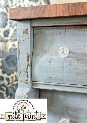 Milk Paint by Miss Mustard Seed sold at Lucetts, a match made in DIY heaven.