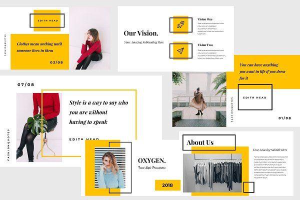 Oxygen Keynote Presentation Template Design De Apresentacao Cartaz