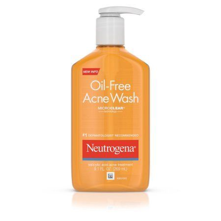 Neutrogena Oil-Free Acne Face Wash With Salicylic Acid, 9.1 Oz., Multicolor