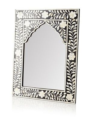 61% OFF Mili Designs Arch Bone Inlay Mirror, Black