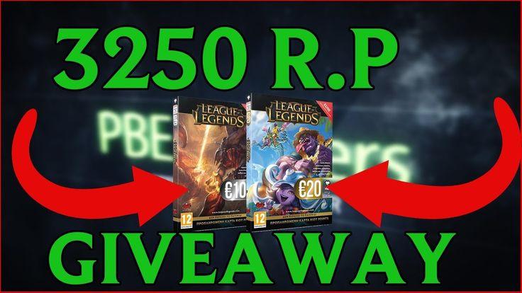 3250 Riot Points Giveaway - League of Legends
