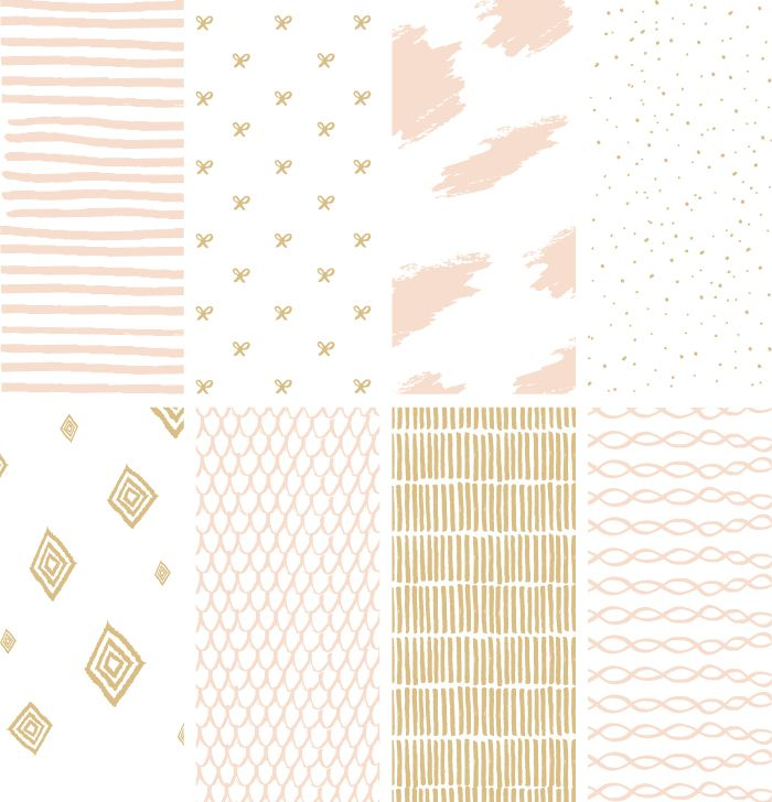 Hand-drawn Vector Stripes and Patterns (free download!) || June Letters Studio
