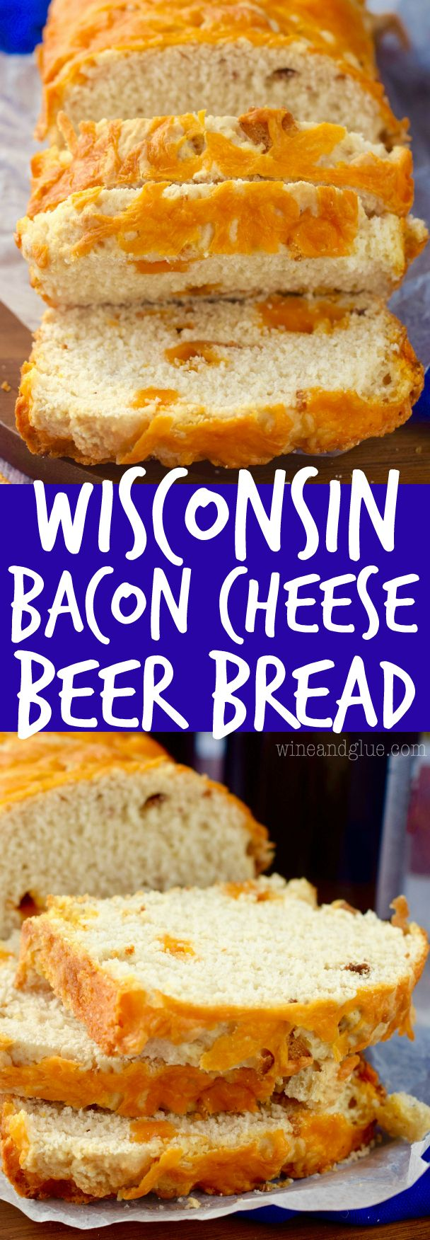 This Bacon Cheese Beer Bread is super simple to make with only FIVE ingredients, and super delicious!: