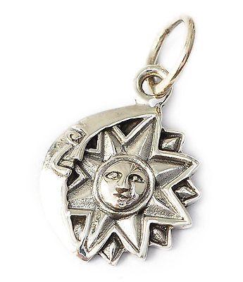 Vietguild's 92.5 Sterling Silver Sun God Aztec Pendant Charm