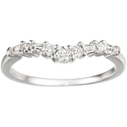 Sterling Silver Fine Curved Wedding Band Set With Cubic Zirconia Carat Twt For Him