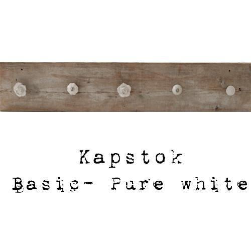 Kapstok steigerhout wit