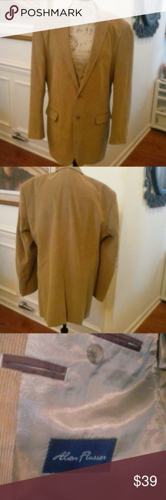 Just In! LN Alan Flusser Corduroy Blazer  46 L Like New fully lined corduroy blazer in mint condition, looks new.  Color: Camel, Pocket on each side in front which are accents only. Functional pockets on inside! Alan Flusser Suits & Blazers Sport Coats & Blazers