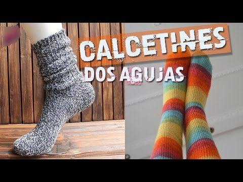 Calcetines Tejidos en Dos Agujas - YouTube