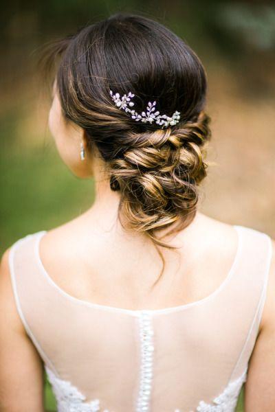 Braided chignon: http://www.stylemepretty.com/little-black-book-blog/2015/02/05/whimsical-summer-wedding-at-the-golden-gate-club/ | Photography: Jasmine Lee - http://jasmineleephotography.com/