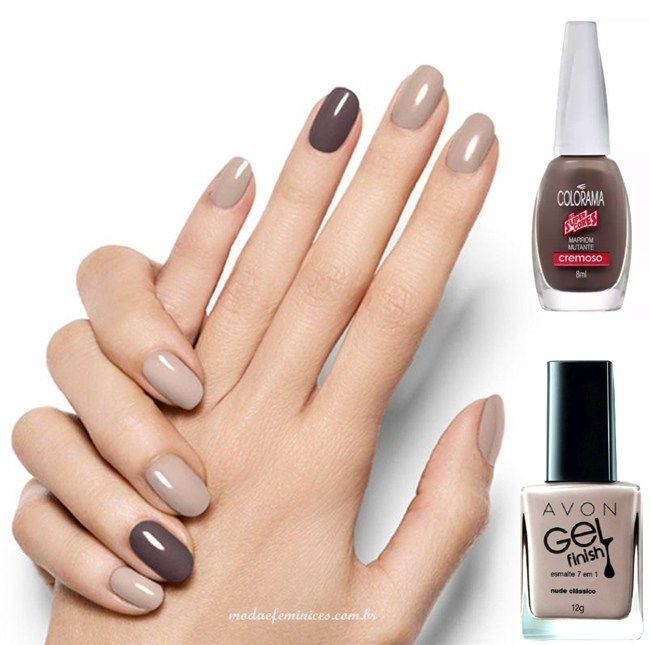 Fashion Nails - Unhas nude e filha única marrom