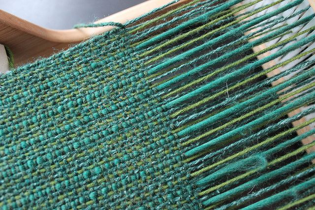 Stripey greens beautiful weaving by Monikah Schuschu, via Flickr