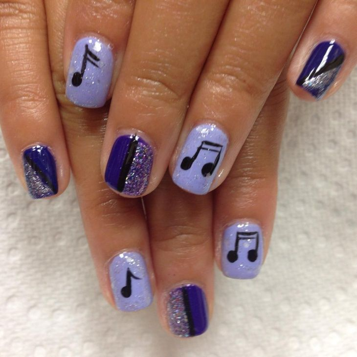 Soft and dark purple is one color combination to try for your music note  nail art. You can keep the design simple by painting the notes in black on  soft ... - Best 25+ Music Note Nails Ideas On Pinterest Music Nails, Music