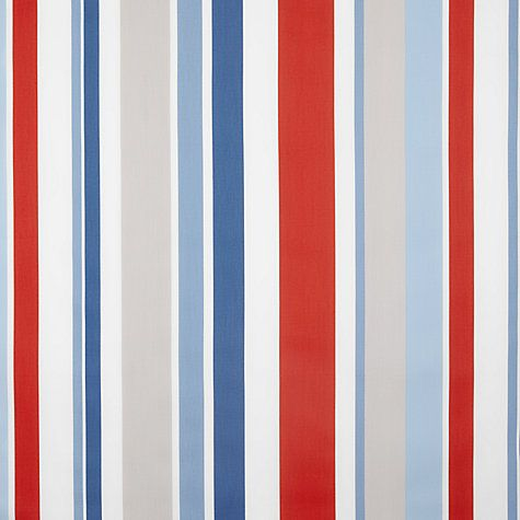Buy Little Home At John Lewis Harrison Stripe Curtain, Red / White / Blue  From Our Made To Measure Curtains In 7 Days Range At John Lewis.