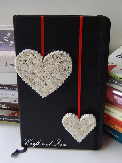 These hearts are sweet. They use crimped paper, but I have some quilling paper that would be nice.