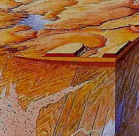 Opal occurs in the desert sandstones within 40 meters of the ground surface. Opal mining is limited to the first defined horizontal levels pictured. It is an environmentally sound practice with little if any impact on ground water or any hazardous waste. Often in arid areas where Opal mining occurs more vibrant vegetation occurs after excavation. Resulting water catchments can have a positive grazing and wild life outcome also. https://www.facebook.com/opalsinformation/