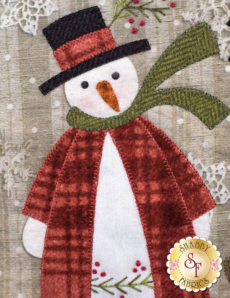 Christmas Snowmen Wall Hanging - Pre-Fused & Laser-Cut Kit