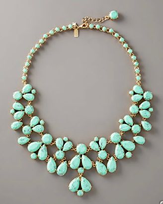 kate spade turquoise bib necklace. count me in
