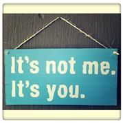 It's not me sign