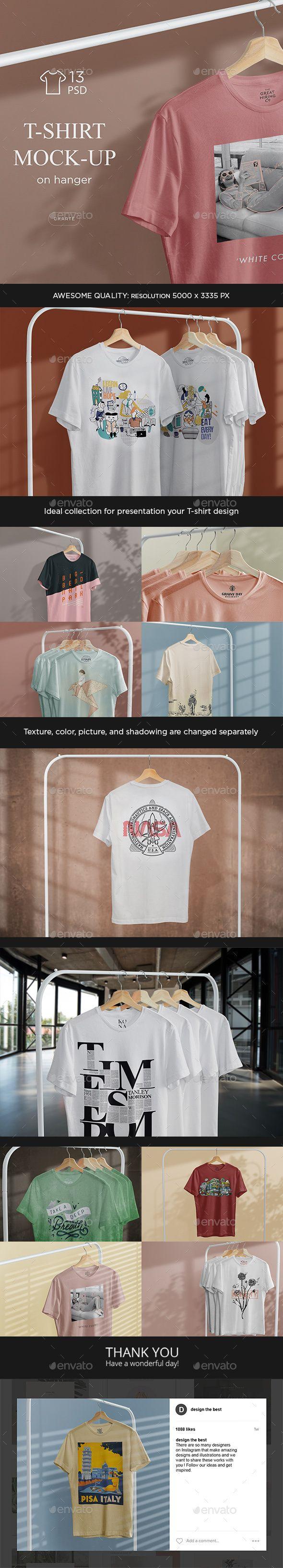 Download T Shirt Mock Up On Hanger Tshirt Mockup Clothing Mockup Mocking
