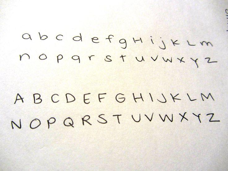 Cute girly handwriting alphabet – bkmn