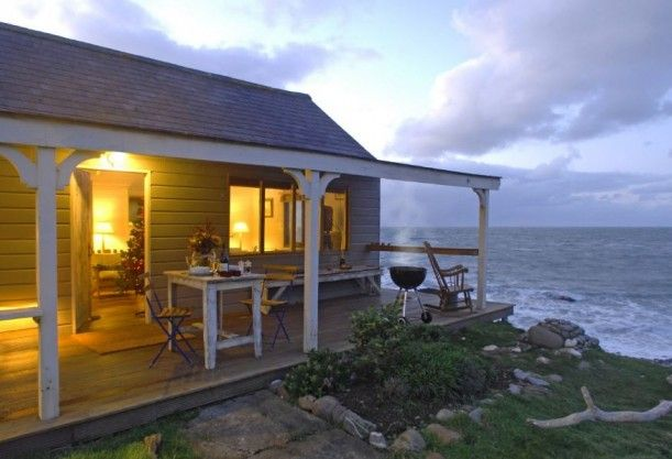 Rosemunde Pilcher is great author..this Cozy beach hut for two in North Cornwall. reminds me of her English Countryside settings.