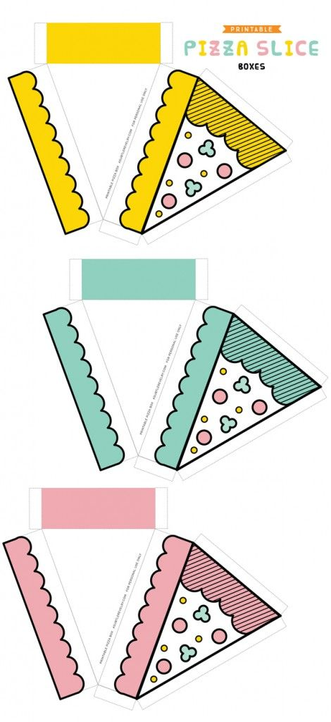 Pizza Slice Boxes * A Subtle Revelry