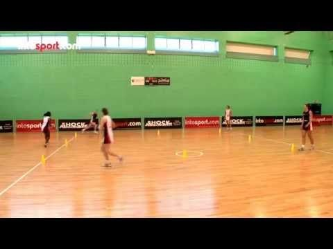 Netball Passing and Defending Drill - YouTube