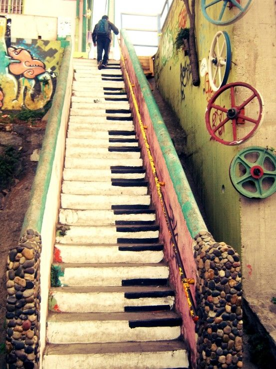 Piano.so beautiful, great idea for people with many stairs !! Carpet maybe though