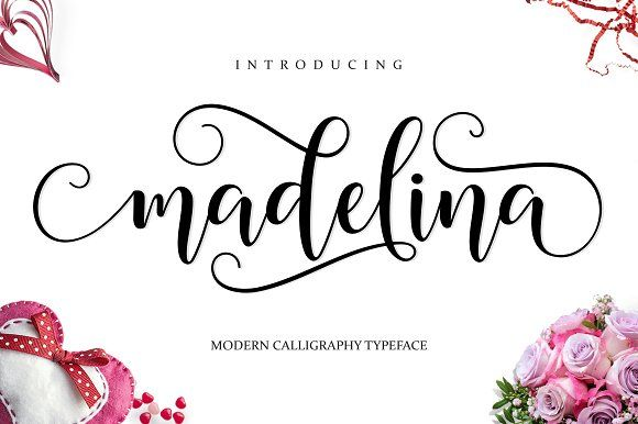 Madelina Script by Amarlettering on @creativemarket