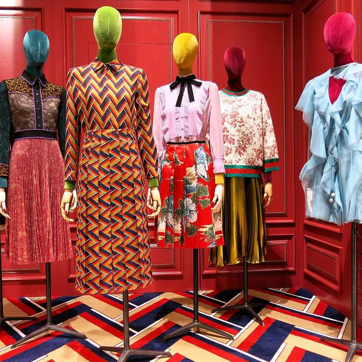 "DOVER STREET MARKET, New York, ""Installation by  GUCCI"", pinned by Ton van der Veer"