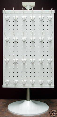 3 Sided Counter Top Peg Board Spinner Rack Display with Hooks | Business & Industrial, Retail & Services, Racks & Fixtures | eBay!