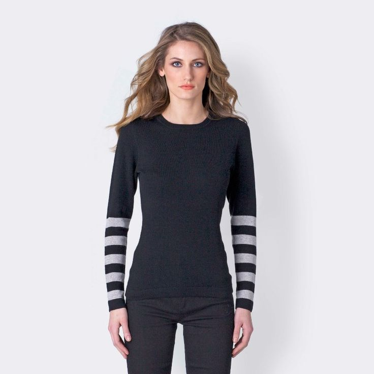 sweater-with-striped-sleeve