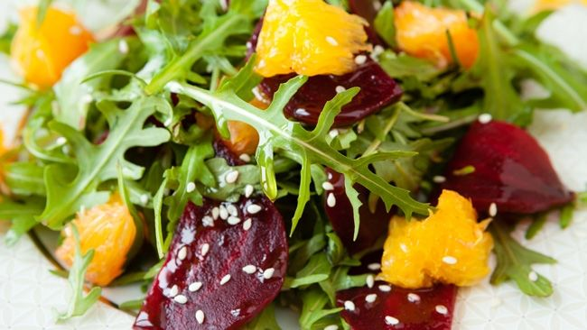An unlikely combination of beetroot and orange produces this fresh, tasty salad that's bursting with flavour