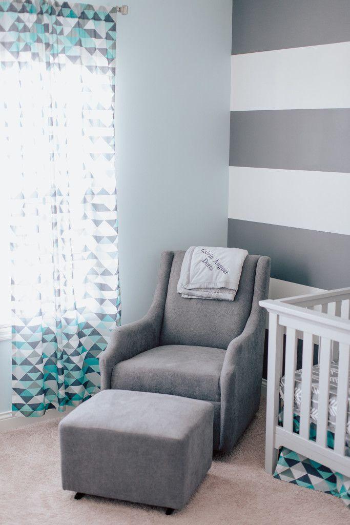 Calvin 39 S Modern Blue And Gray Nursery Gray Gray