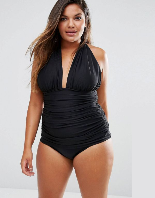 Who says one-piece bathing suits have to be drab and unflattering? We scoured the net to find 10 plus size one-piece swimsuits that prove that they can be sexy, too!  This sexy one from Asos.com  15 One-Piece Swimsuits That'll Have You Poolside Pretty! http://thecurvyfashionista.com/2017/04/one-piece-plus-size-swimsuits/